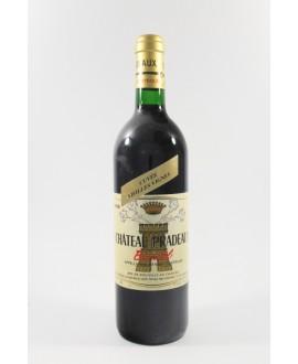 Château Pradeaux cuvée vieille vignes 1990